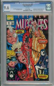 New Mutants #98 CGC 9.6 NM+ First 1st Appearance Deadpool (1991) Marvel comic book